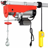 PA type PA250kg PA500 1.5 ton 100kg 500kg 220v motor 1000kg small mini wire rope electric cable Pulley chain hoist crane winch