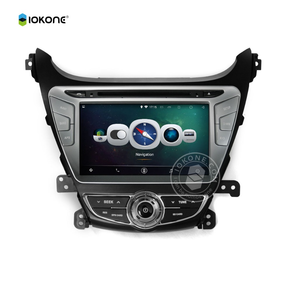 Manufactory offer Android 5.1 multimedia player for HYUNDAI Elantra 2014 with Unique Rotating Interface 3G/4G Wifi Mirror link