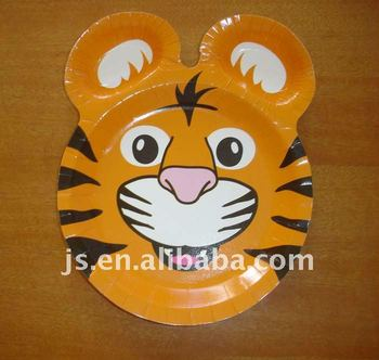 Kids Favorite Party Paper Plates With Cartoon Animal Tiger Head & Kids Favorite Party Paper Plates With Cartoon Animal Tiger Head ...