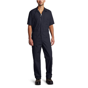 Dark Navy Short-Sleeve Coverall Work Wear Uniforms