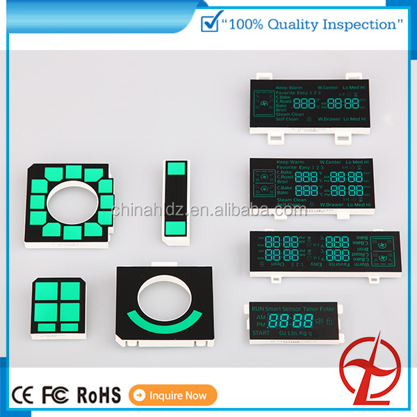 OEM China factory price for oven home appliance ice blue color custom 7 segment led display moudle