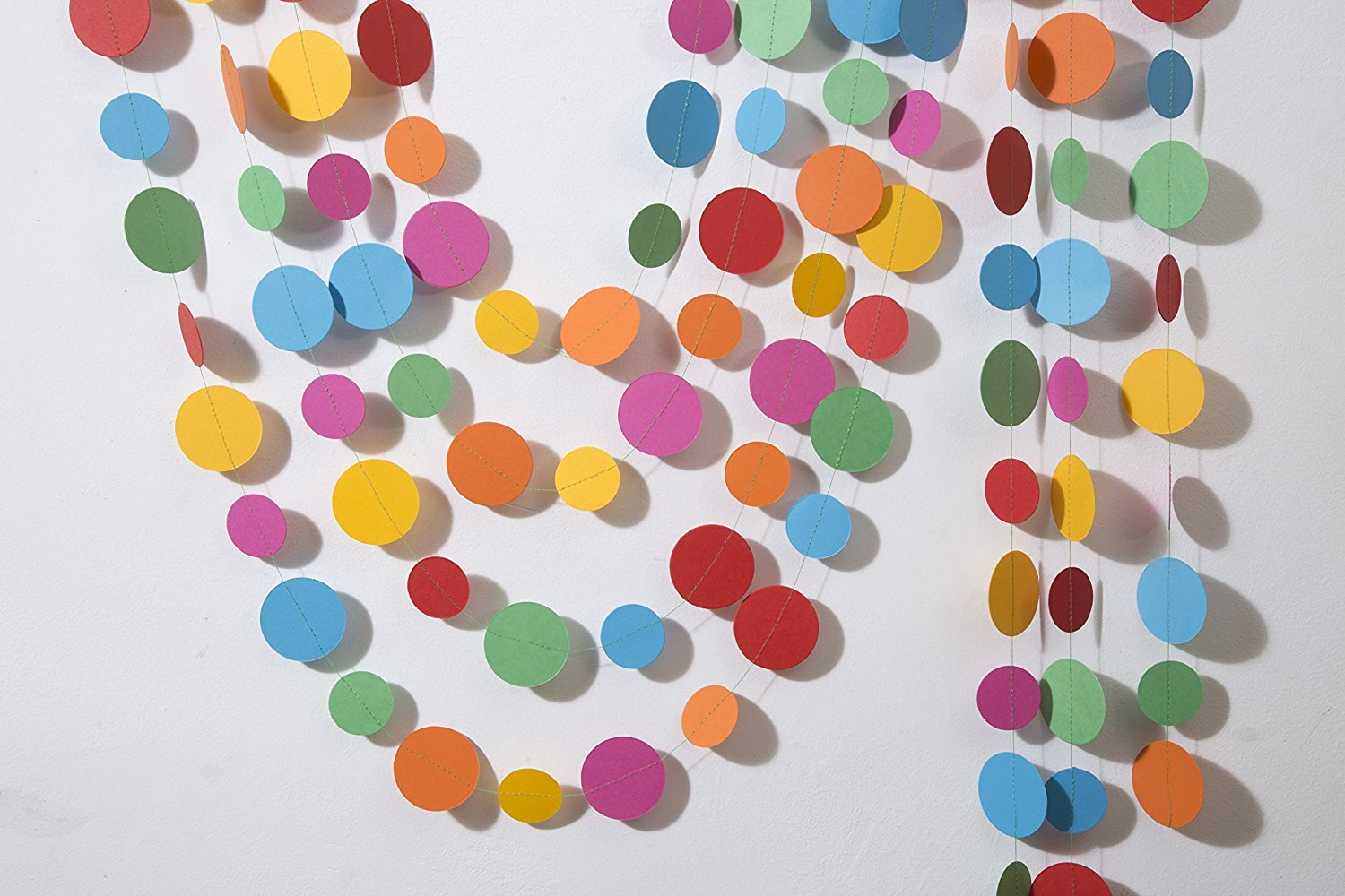 Paper garland, Multicolored circles garland, Easter garland, Birthday decorations, Birthday party garland, Nursery decor, Beach party