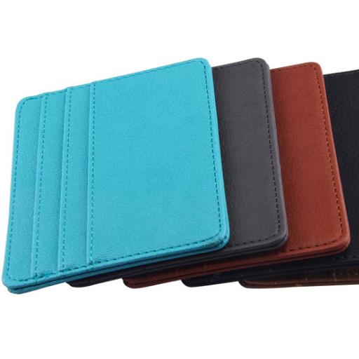 Nieuwe Lederen Geld Clip Magneet Slim Dunne Portemonnee Pocket Id Credit Card Houders Buy Credit Card Houders,Portemonnee Pocket,Lederen Geld