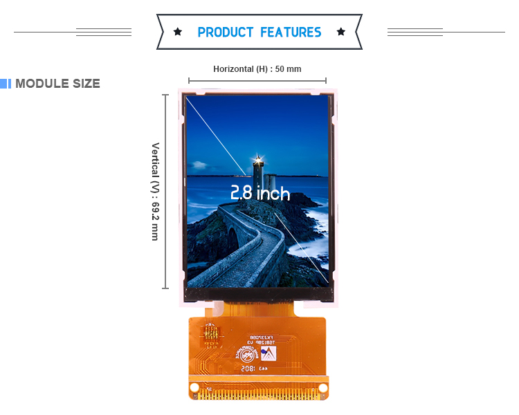 Cheapest Icd Display 240*320 2.8 Inch Display LCD for Industrial Field