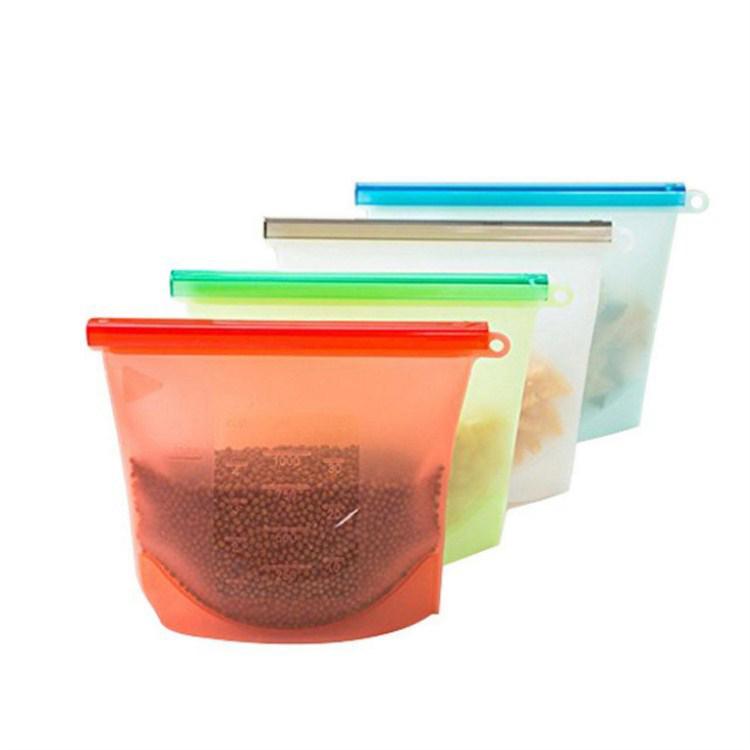 Reusable Food Grade Vegetable Storage Bag Versatile Preservation Bag Container for Fruits Vegetables Silicone Food Storage Bag фото