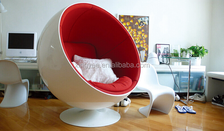 modern living room furniture wool fabric fiberglass stereo egg chair aviator swivel eero aarnio. Black Bedroom Furniture Sets. Home Design Ideas