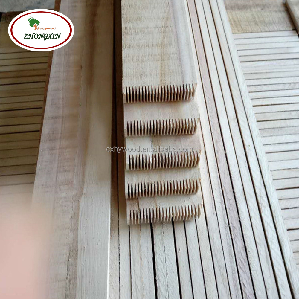 Paulownia pine grade edge glued finger joint wood board from china factory