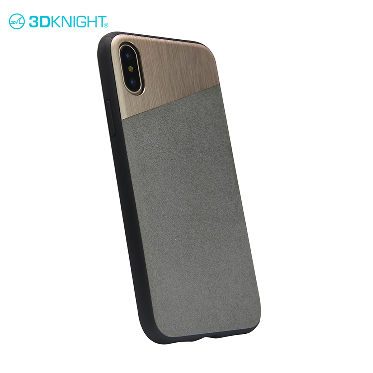 Natural cement phone back cover tpu case for iphone X colorful sublimation cover for mobile