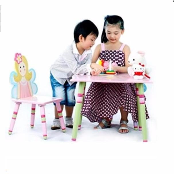 Mobília dos miúdos de madeira conjuntos de cadeira mesa de estudo mobiliário escolar de venda quente crianças aprendendo conjuntos de cadeira de mesa