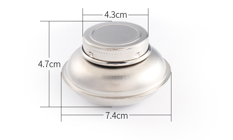 Bgln 1Piece Stainless Steel Oil Palette Single Double Hole Dipper Painting Oil Pot Oil Painting Art Supplies