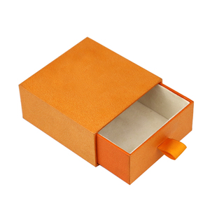 With velvet inside Small jewelry packaging gift decorated cardboard drawer storage paper box