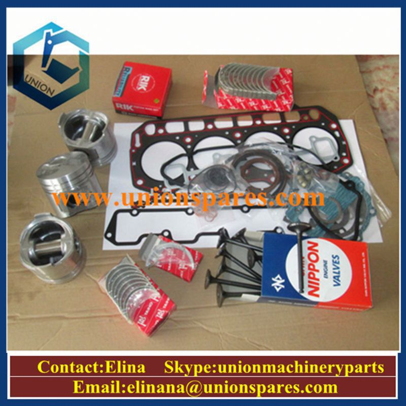 Excavator engine parts E120 E140 6D14 bearing gasket set