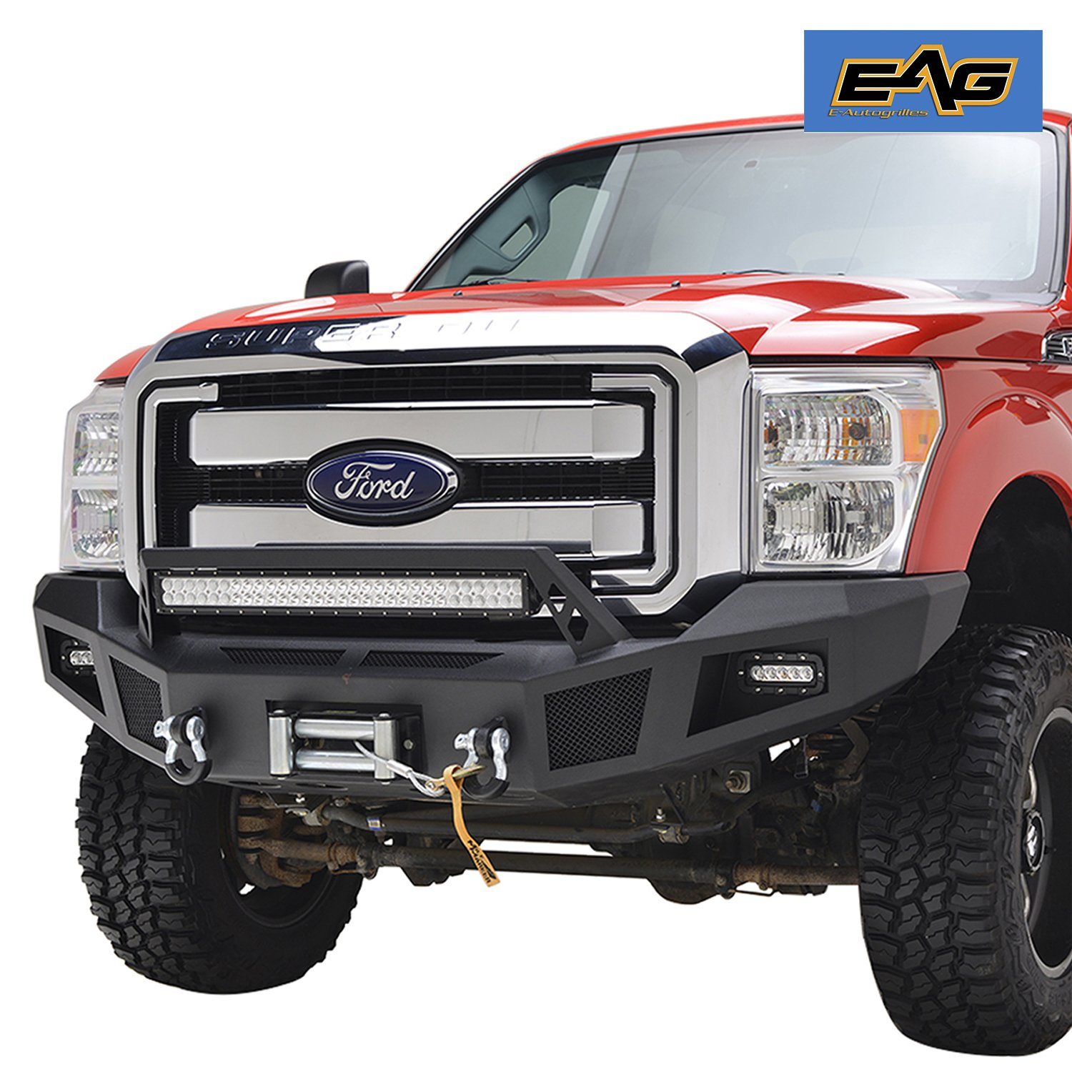 Buy EAG Heavy Duty Front Winch Bumper with LED Lights for 11