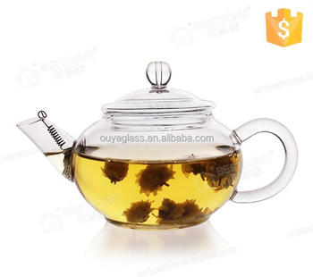 Plastic glass teapot with strainer heat-resistant glass pot antique metal teapots made in China