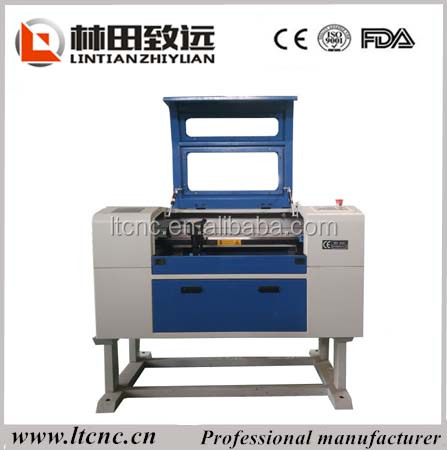 Nonmetal materials processing co2 laser cutting engraving machine 600*400 with 80w 90w co2 galss laser tube