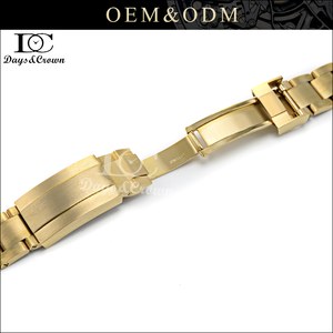 Good Price waterproof 20mm gold steel solid watchband for Ome ga/ Ti ssot
