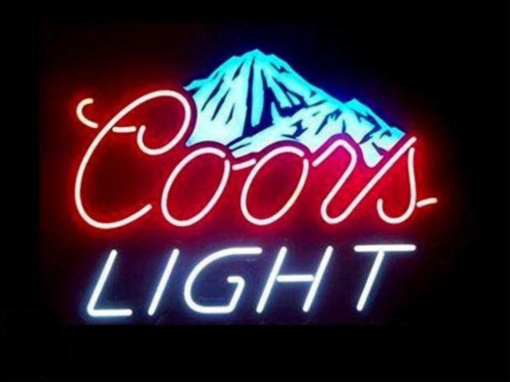 Prang-US Coors Light Snow Mountain Neon Signs 17×14 inch, Real Neon Signs made with Glass Tubes, Brilliant Neon Open Sign. Eye-catching Neon Beer Sign.