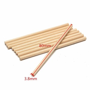 80mm disposable double round birch wooden lolly sticks