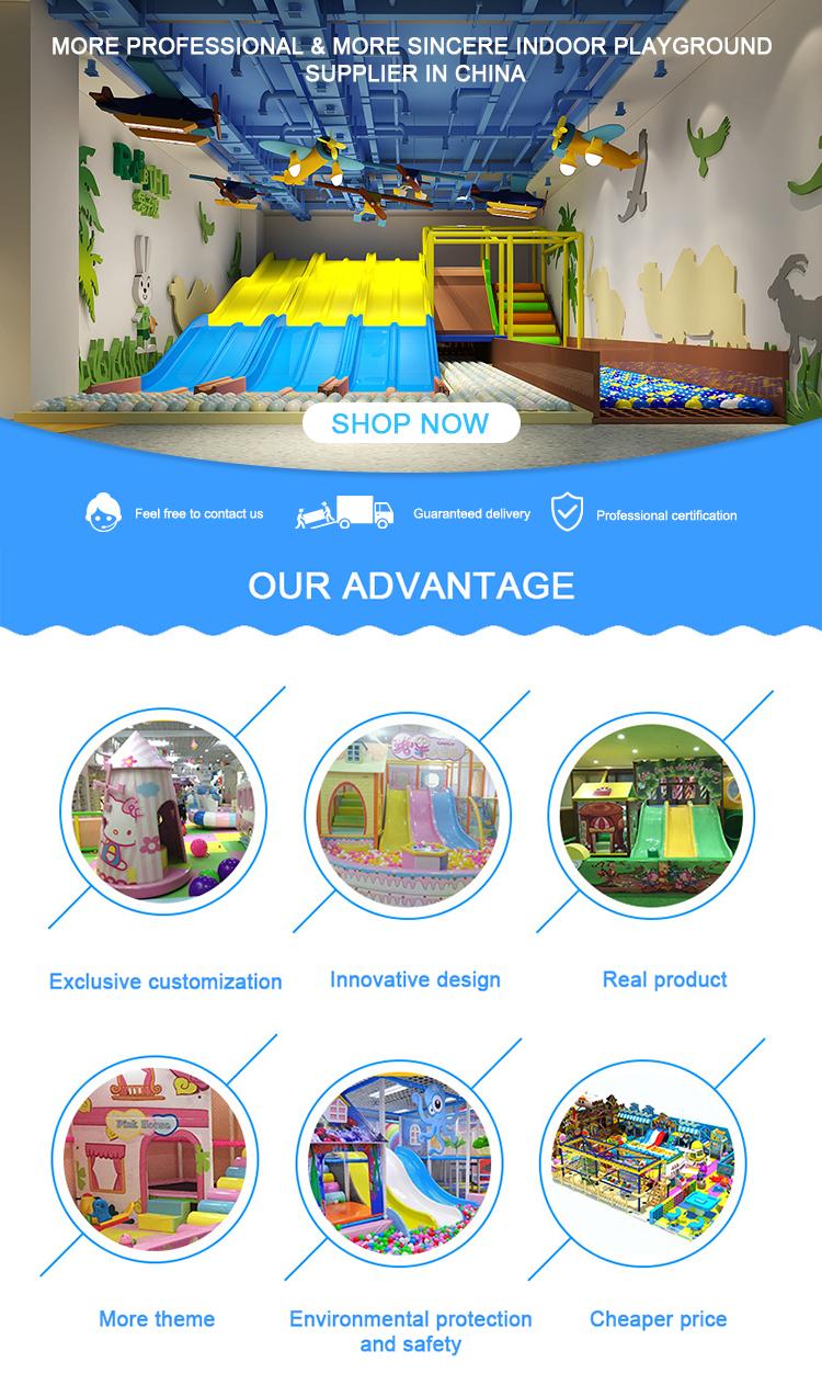 Commerciële Custom Made Kinderen Indoor Speeltoestellen Kinderen Soft Speeltoestellen met Trampoline