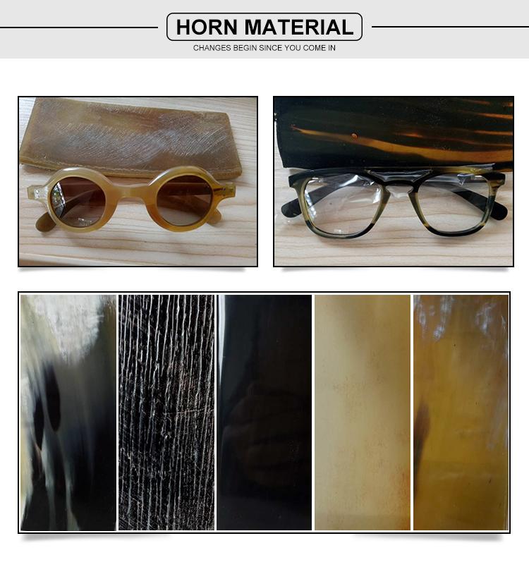 Rodada quadro Do Gato 3 UV 400 natural chifre de búfalo óculos polarizados dos homens 2018 new arrivals