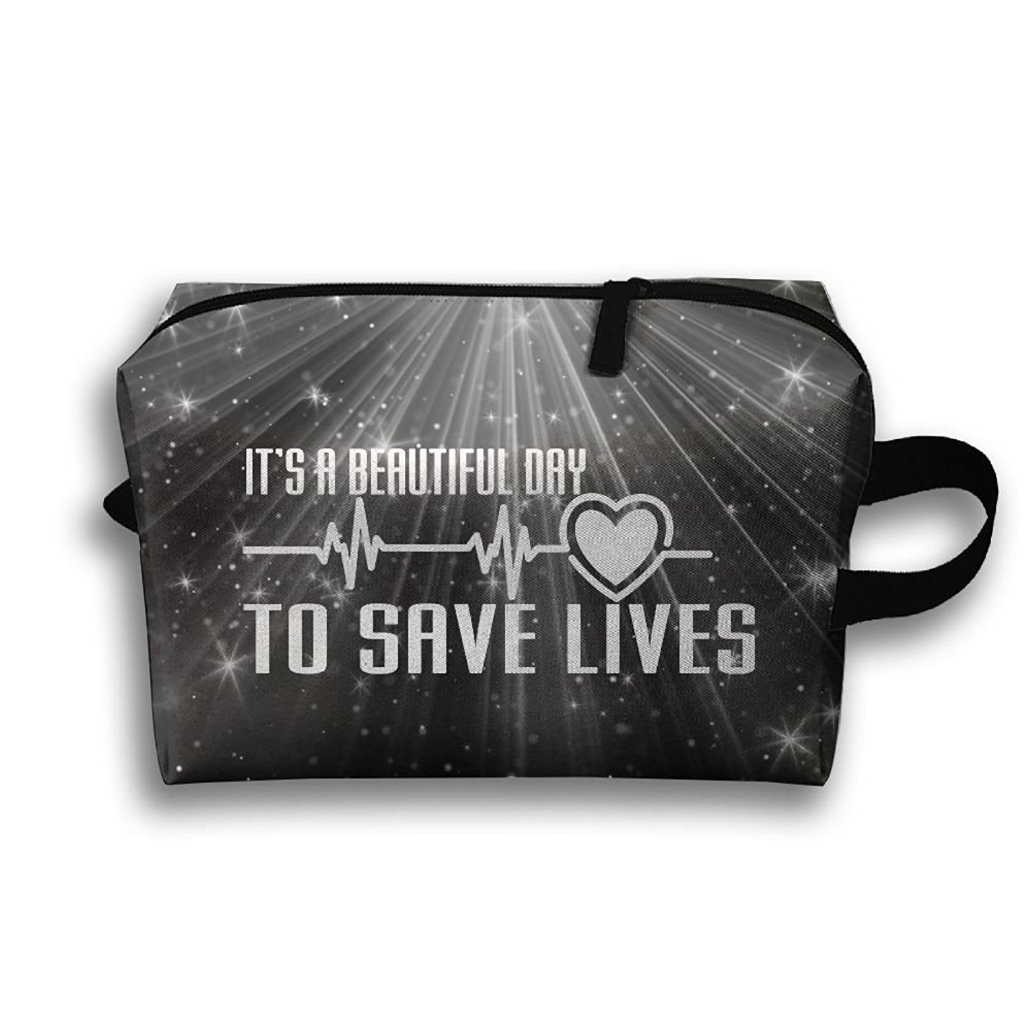 It's A Beautiful Day To Save Lives Travel Bag Multifunction Portable Toiletry Bag Organizer Storage