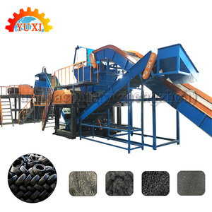 Scrap Truck Tyre Recycling Machines/Waste Car Tyres Separating Production Line