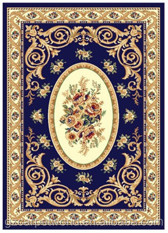 Royal Blue Polypropylene Carpet Rugs Am
