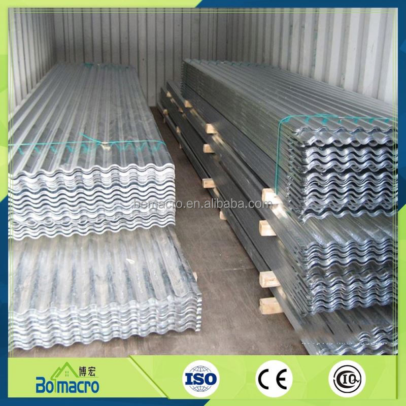 20 Gauge Heat Resistant Corrugated Galvanized Steel Roofing Sheet Metal