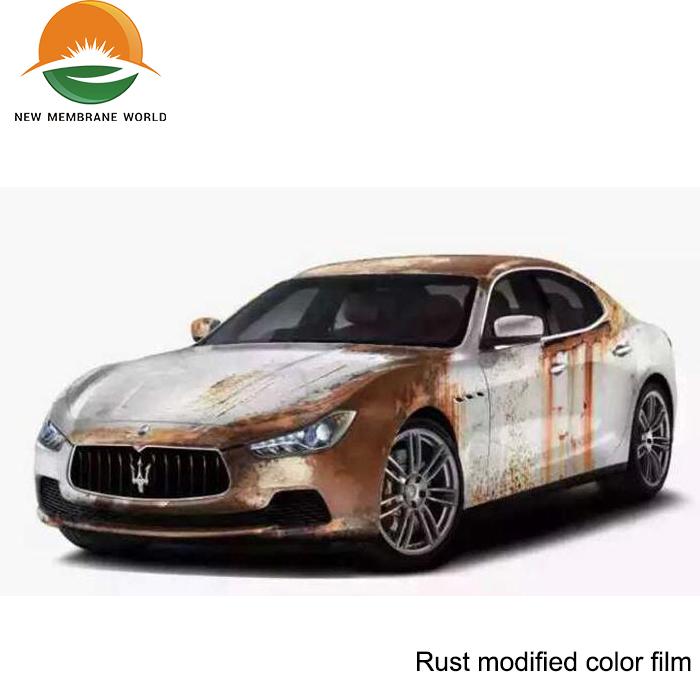 Wholesale Rust Modified Color Car Wrap Vinyl Film Carbon Fiber