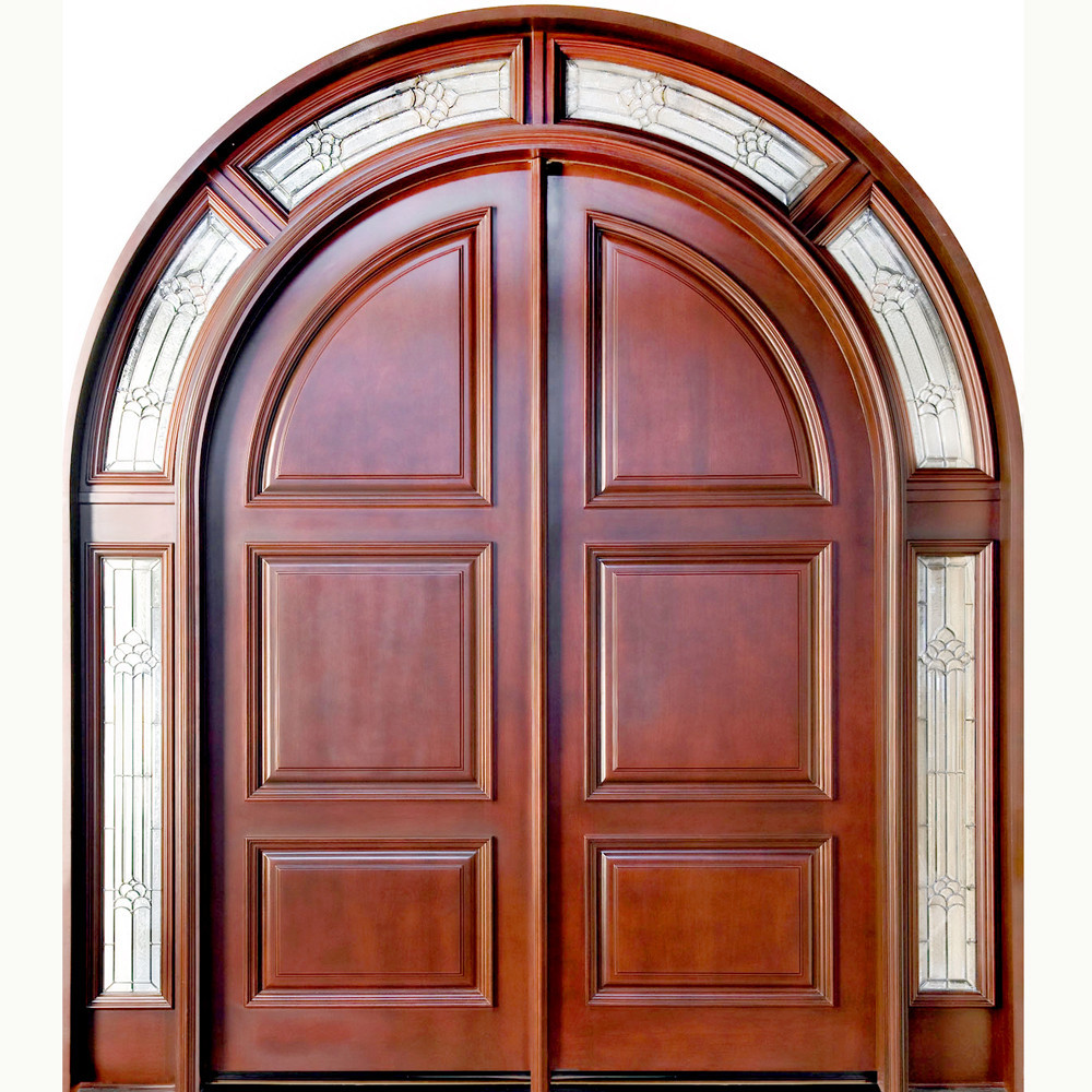 Cheap Price Arched Wood Entry Door With Good Quality