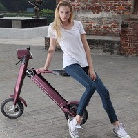 2016 New Fashion 12 inch Alloy folding mini wheel electric scooter motor electric scooter 250w