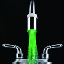 Green color water glow led faucet light lowes