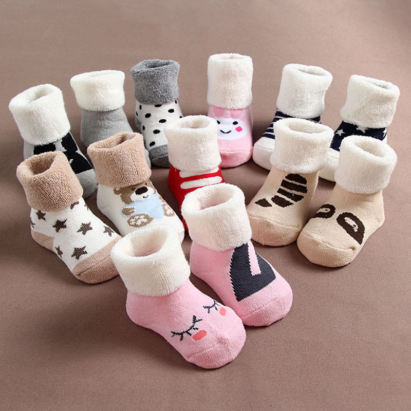 1pairs lot New 2015 Lovely Winter Baby Socks for Babies Brand Girl Kids Accessories New