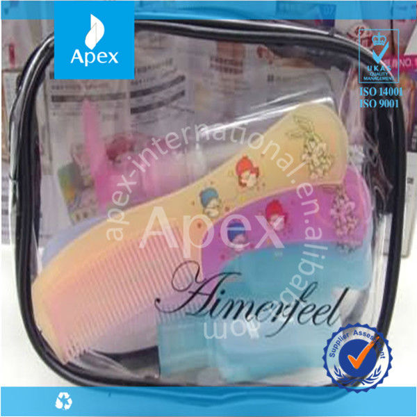 Transparent zipper cosmetics bags and cases