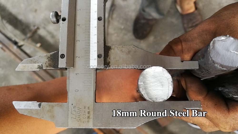 GT6-12, 10-20,12-24mm Null toleranz eisen stange, stahl bar richten und schneiden maschine, haarglätter und cutter