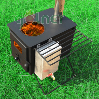 China Manufacturer Golner French Style Wood Fireplace Mantel, Wood Stove  Water Jacket, Portable Camping