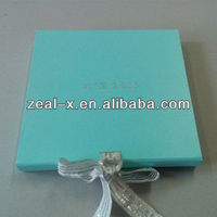 Light Blue Christmas Clothes Gift Foldable Boxes With Silver Logo