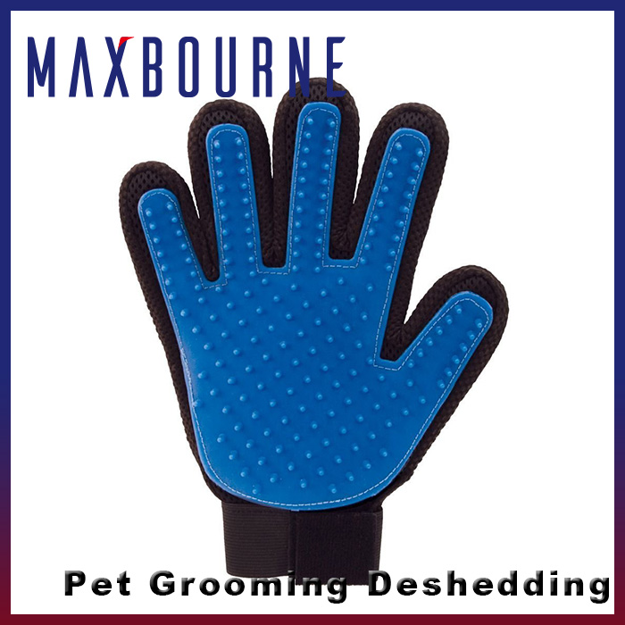 2016 Amazon best selling pet grooming glove brush Pet grooming glove hair dog brush