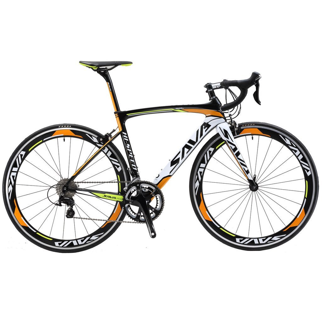 SAVADECK 700C Road Bike T800 Carbon Fiber Frame / Fork / Seat post with SHIMANO 4700 20 Speed Derailleur System and KENDA 23C Tire