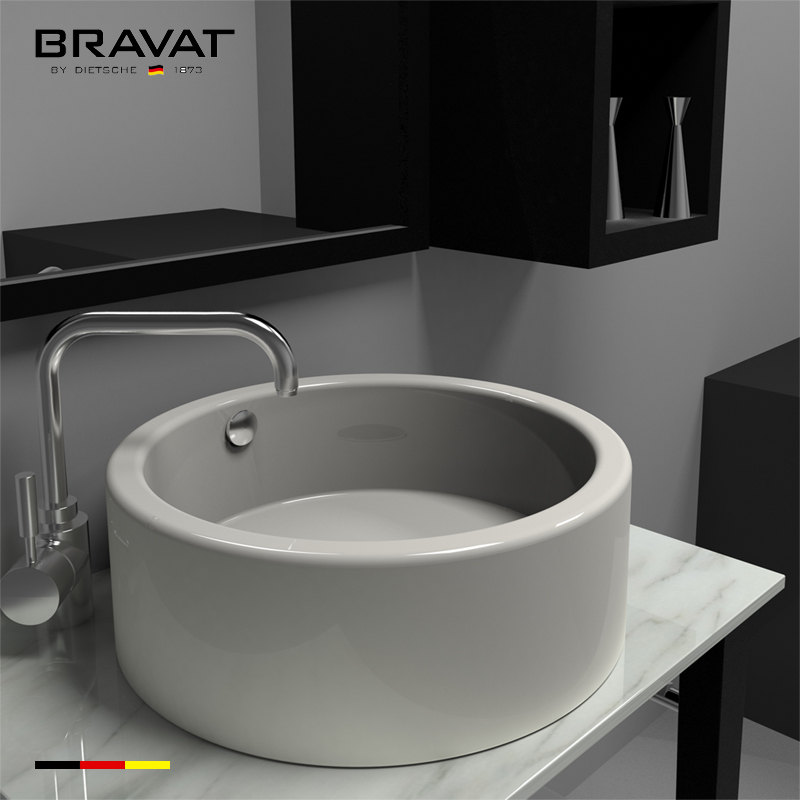 Environmental Ceramic for Luxury bathroom use bathroom lavatory C22115XW,  View bathroom lavatory, Bravat Product Details from Bravat (China) GmbH on