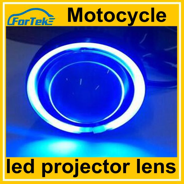 Angel eye devil eye motorcycle led projector headlight hi 18W lo 6W