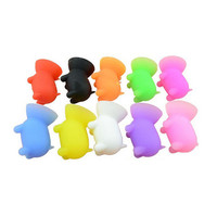 Cheap price mini pig shaped silicone rubber suction cup cellphone stand holder mount