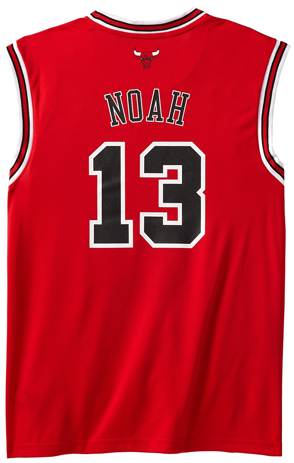 79f9759fa Carlos Boozer Chicago Bulls Autographed Red  5 Jersey Size 50. Get  Quotations · NBA Chicago Bulls Red Replica Jersey Joakim Noah  13