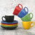 100ml High Quality Color Glazed Ceramic Stoneware Coffee Tea Cups and Saucers Sets