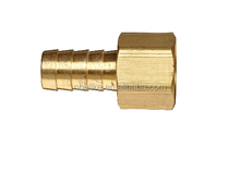 Brass Compression Hose Fitting, Connector, Barb x NPT Female