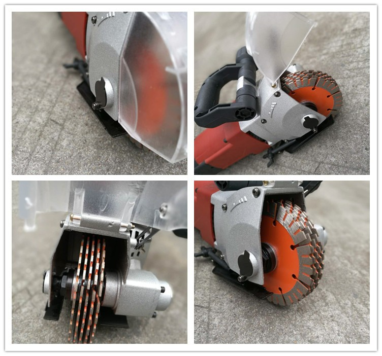 Concrete cutting machine wall chaser for wall