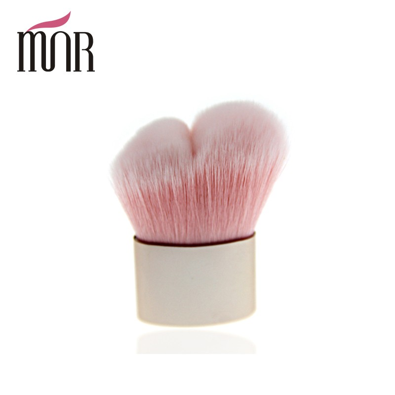 Pink double peak brush head angular blush makeup Kabuki brush