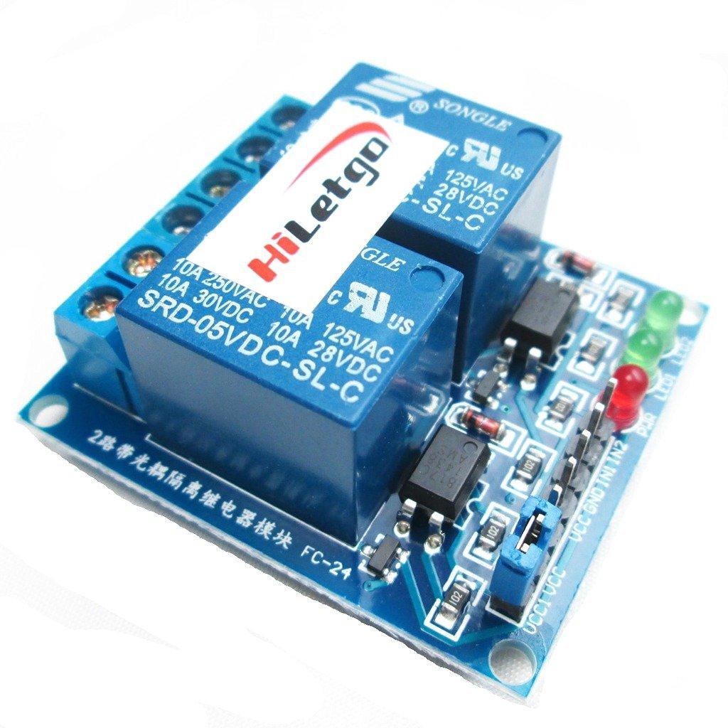 HiLetgo 5V 2 Channel Relay Module Relay Expansion Board DC-5V