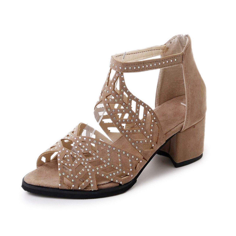 8d644eb917d406 baqijian Female Sandals Summer Woman Peep Toe Shoes Rhinestones Middle Heels  Sandals Shoes Girls