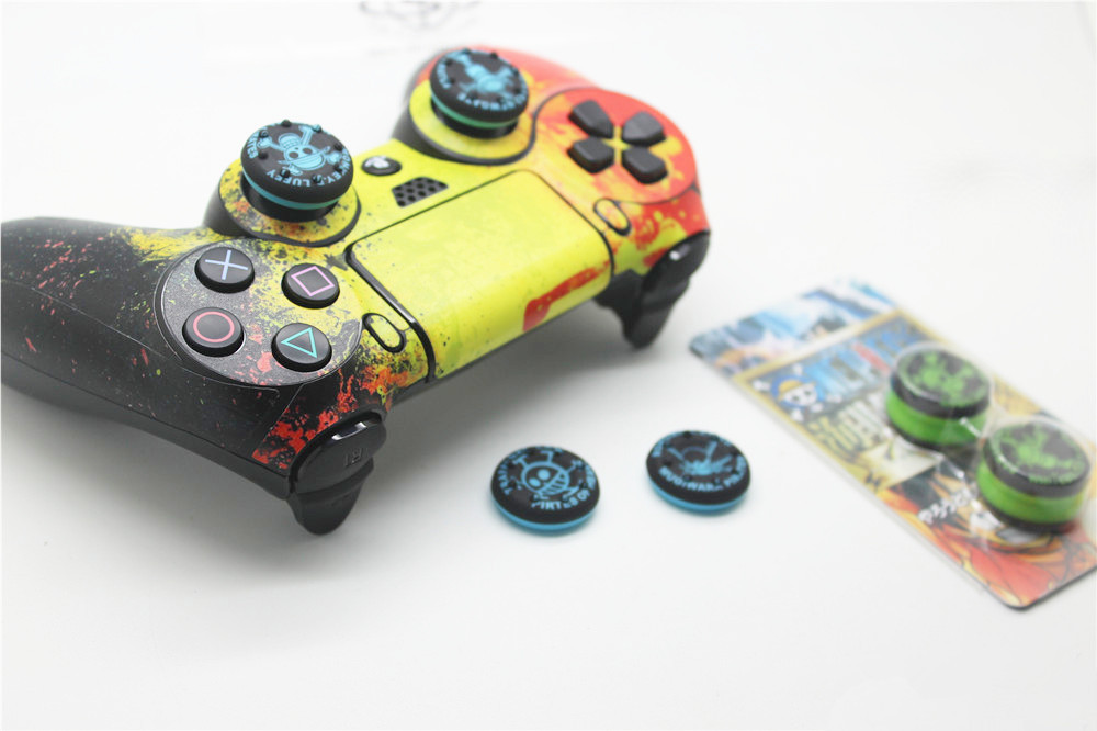Buy 4pcs a lot One piece Blue silicone thumbstick grips for